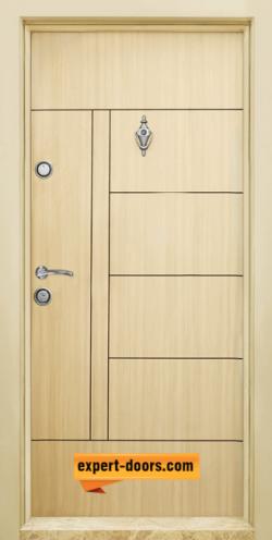 Блиндирана входна врата модел T-587, панел Зебра