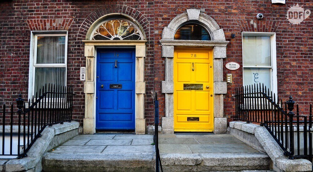 cores diferentes portas dublin irlanda 1 1