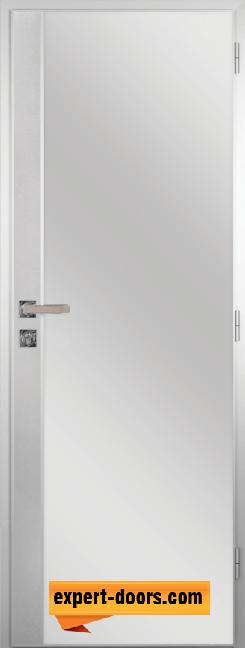 Алуминиева врата за баня с метална лайсна – GRADDE