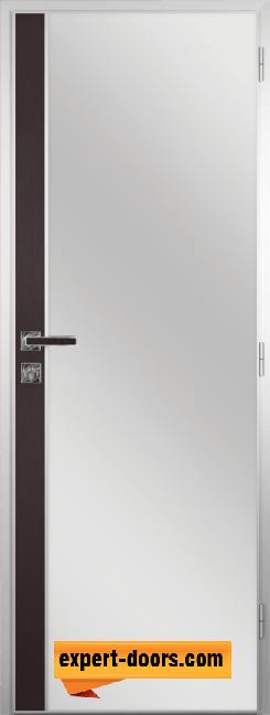 Алуминиева врата за баня с лайсна – GRADDE цвят Череша Орех Рибейра