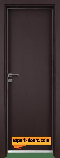 Алуминиева врата за баня – GRADDE цвят Череша Орех Рибейра