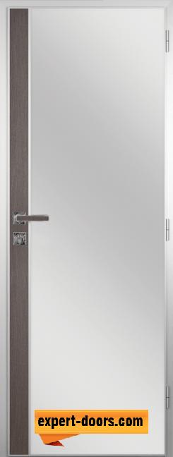 Алуминиева врата за баня с лайсна – GRADDE цвят Череша Сан Диего