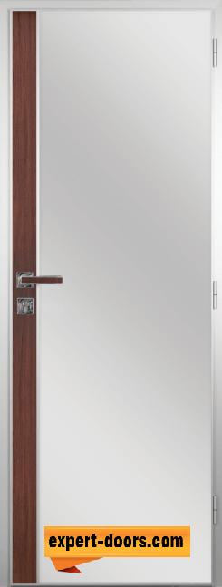 Алуминиева врата за баня с лайсна – GRADDE цвят Шведски Дъб