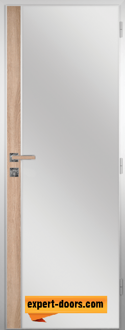 Алуминиева врата за баня с лайсна – GRADDE цвят Дъб Вераде