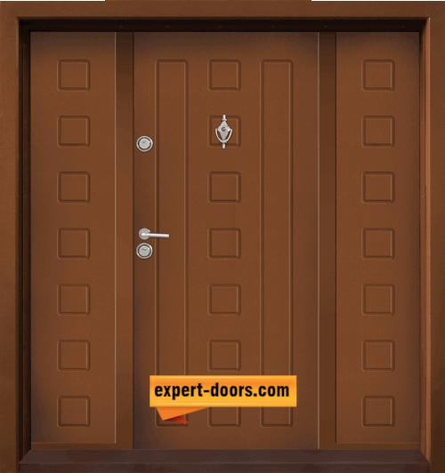 Dvukrila vhodna vrata T 712 tsvyat Zlaten dab 1
