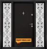 Двукрила входна врата Т-712, цвят Африка