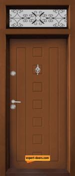 Еднокрилна входна врата Т-712, цвят Златен Дъб