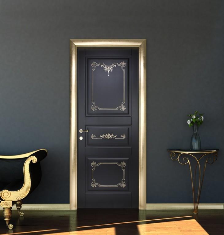 Черна интериорна врата
