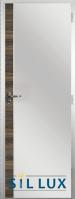 Алуминиева врата за баня Sil Lux, цвят Райски орех Лайсна