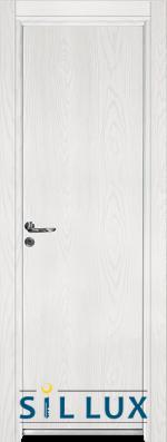 Алуминиева врата за баня Sil Lux, цвят Снежен бор