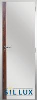 Алуминиева врата за баня Sil Lux, цвят Японски бонсай Лайсна