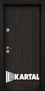 Блиндирана входна врата TP-003, цвят Черна перла