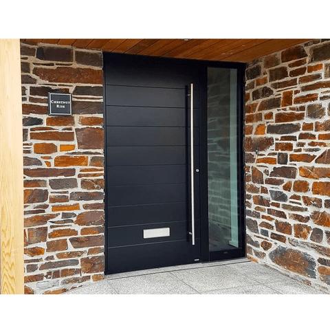 Луксозна входна врата от алуминий със стъклен панел