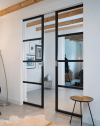Slim Frame 50 Industrial 4l Single Double Pocket Doors Any Size Colour