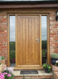 Дървена модерна Входна врата за вила