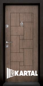 Блиндирана входна врата T 100, цвят Антик