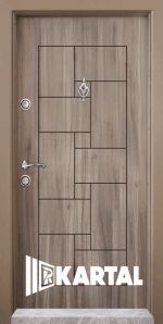 Блиндирана входна врата T 100, цвят Спарта