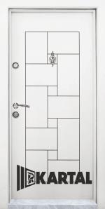Блиндирана входна врата T 100, цвят бял
