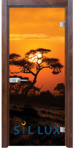 Стъклена интериорна врата Print G 13 17 Q