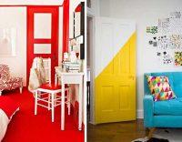Цветни врати, жълта и червена